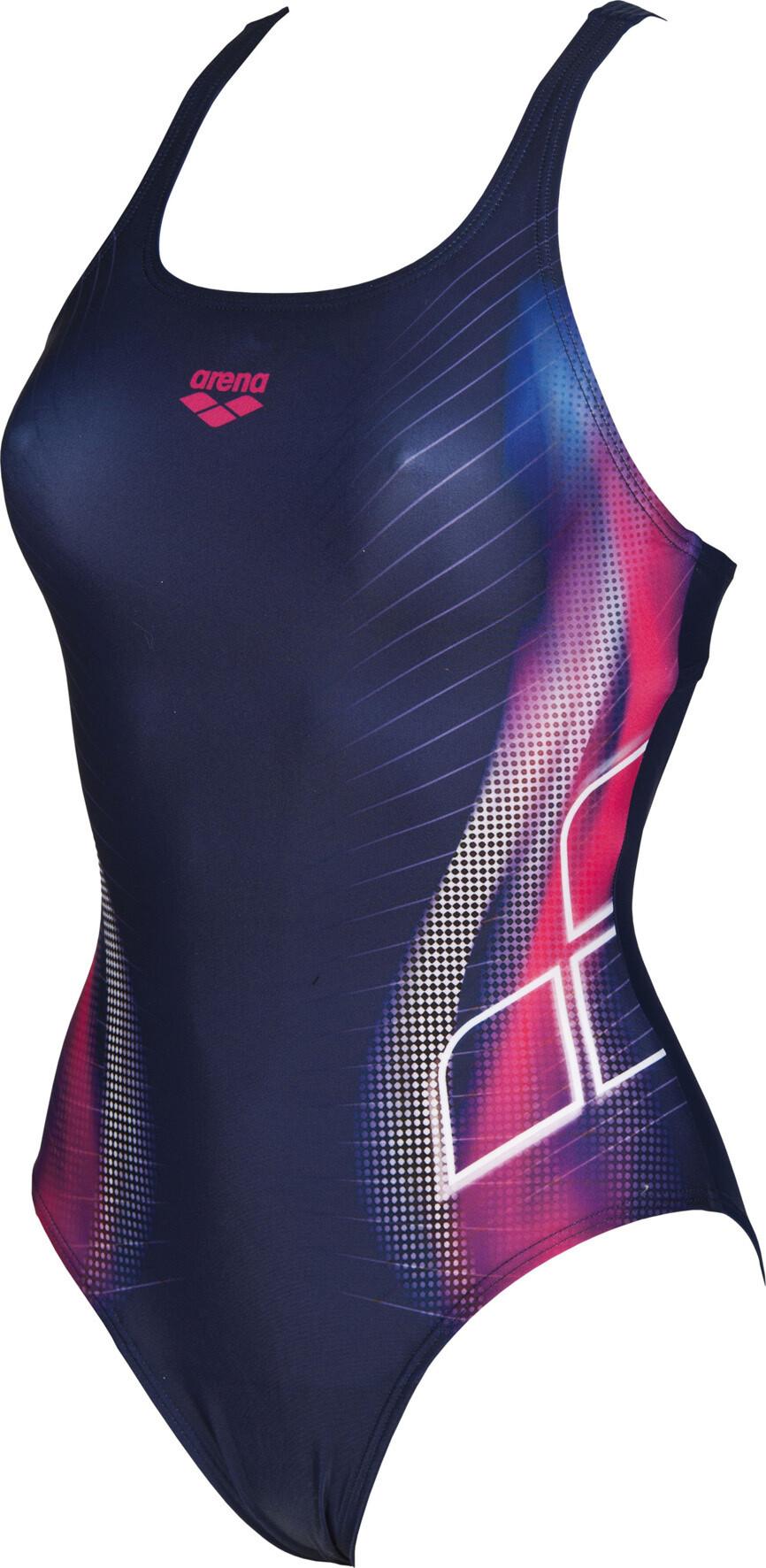 be5cc9030d4b19 arena Briza Swim Pro L One Piece Swimsuit Damen navy-shiny pink ...